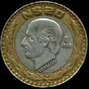 La moneda de 20 pesos ha sido descontinuada y sustituida por el